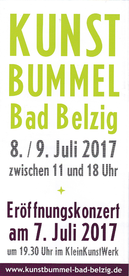 Flyer Kunstbummel Bad Belzig 2017