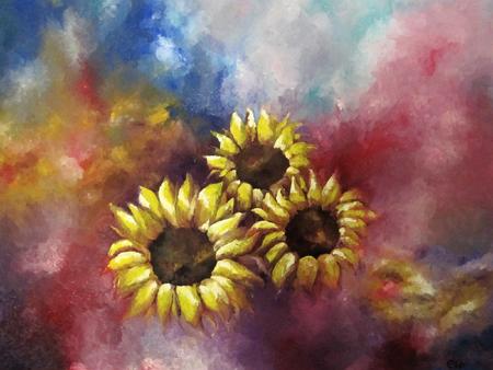 Sonnenblumen - Christine Baumann