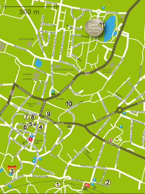 Stadtplan - Stationen Kunstbummel 2019